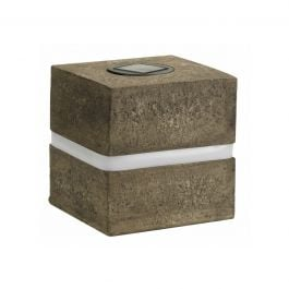 Solar Powered Decorative Granite Cube Garden Light By Smart Solar