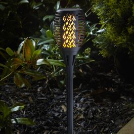 Small Solar Powered Flaming Torch Stake Light By Smart Solar