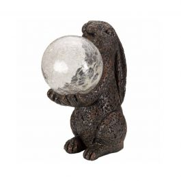 Solar Powered LED Globe Magic Hare Garden Ornament By Smart Solar