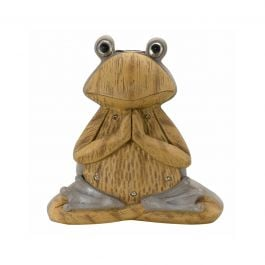 Solar Powered LED Meditating Frog Garden Ornament By Smart Solar