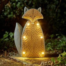 Solar Powered LED Curious Fox Garden Ornament By Smart Solar