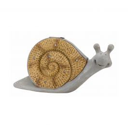 Solar Powered LED Happy Snail Garden Ornament By Smart Solar