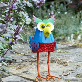 Solar Powered LED Owl Silhouette Detail Garden Ornament By Smart Solar
