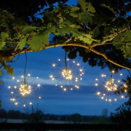 3 Solar Powered Starburst Effect Fairy Lights By Smart Solar