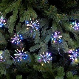 10 Multi Coloured Twinkling Starburst String Lights