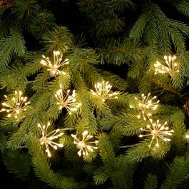 20 Warm White Twinkling  Starburst String Lights