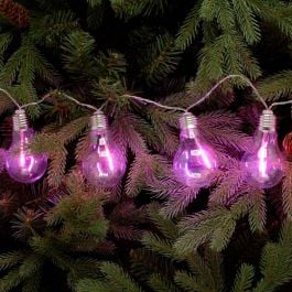 10 Pink Edison Bulb String Lights