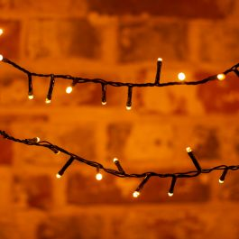 50 Warm White Battery Operated  String Lights With Timer Function