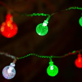 40 Multicolour Bubble Ball String Lights With Timer Function
