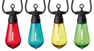 10 Multicoloured Connectable Festoon Party Lights