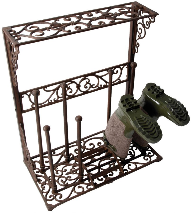 Wellington Boot Cast Iron rack - 96cm