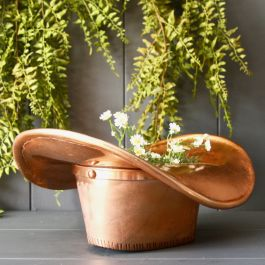 35cm/13.6in Copper Stetson Planter