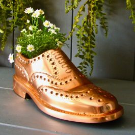 30cm/11¾in Copper Brogue Planter