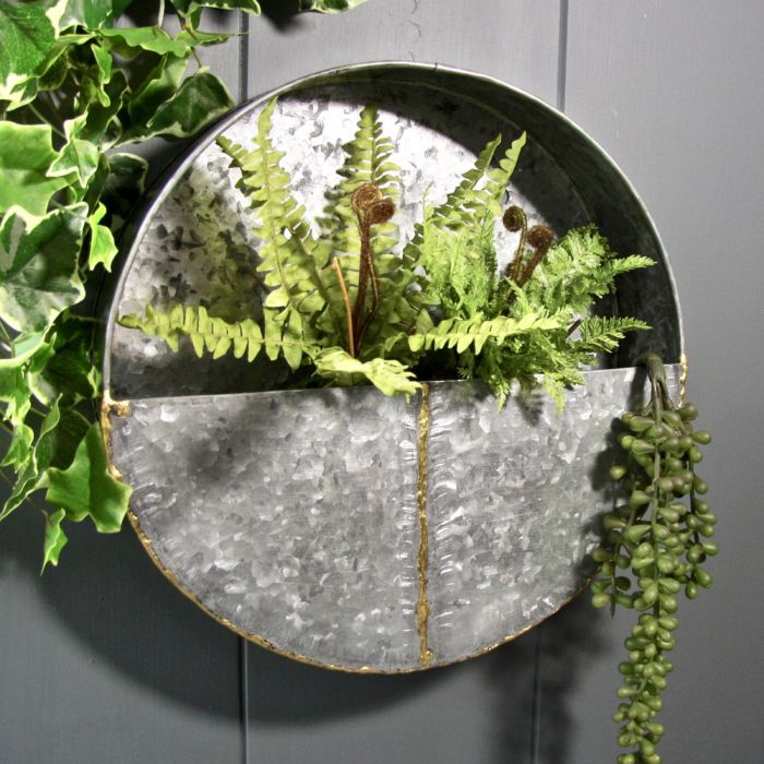 30cm 11 190 In Round Steel Wall Planter 163 29 99