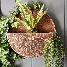 30cm/11¾in Full Circle Wall Planter in Copper