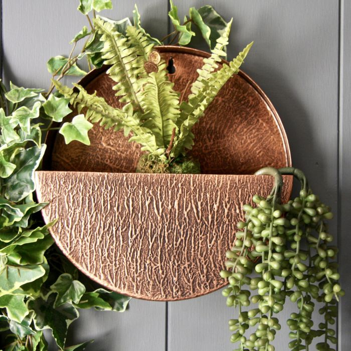 30cm 11 In Full Circle Wall Planter In Copper 39 99