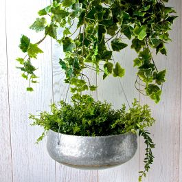 15cm/6in Steel Hanging Planter