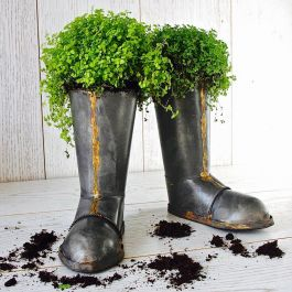 18cm/7in Pair of Wellington Boot Planters