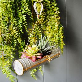 27cm/10½in Hanging Tubular Planter - Single