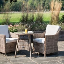 Luxury Bistro Set in Natural Rattan by Primrose Living