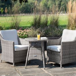 Luxury Bistro Set in Stone Rattan by Primrose Living