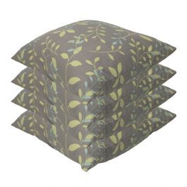 Country Teal Outdoor Scatter Cushion 45x45cm - Pack Of 4