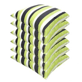 Lime Green Striped Outdoor Scatter Cushion 45x45cm - Pack Of 6