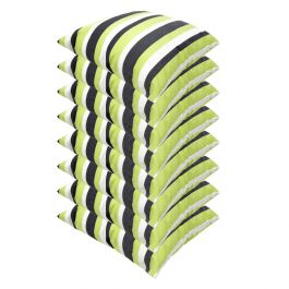 Lime Green Striped Outdoor Scatter Cushion 45x45cm - Pack Of 8