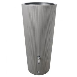 220 Litre Linus 2 in 1 Water Tank with Planter in Zinc Grey