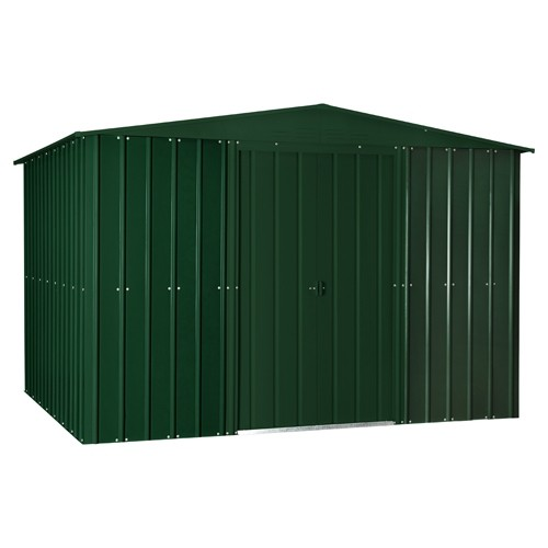 Lotus 10ft x 6ft Solid Metal Shed in Heritage Green