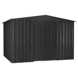 Lotus 10ft x 7ft Solid Metal Shed in Anthracite Grey