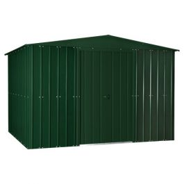 Lotus 10ft x 8ft Solid Metal Shed in Heritage Green