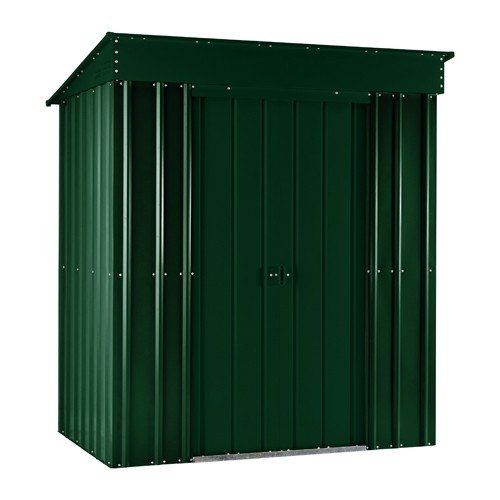 Lotus 5ft x 3ft Pent Solid Metal Shed in Heritage Green