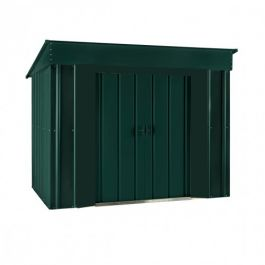 Lotus 6ft x 4ft Low Pent Solid Metal Shed in Heritage Green