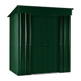 Lotus 6ft x 4ft Pent Solid Metal Shed in Heritage Green