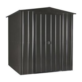 Lotus 6ft x 4ft Solid Metal Shed in Anthracite Grey