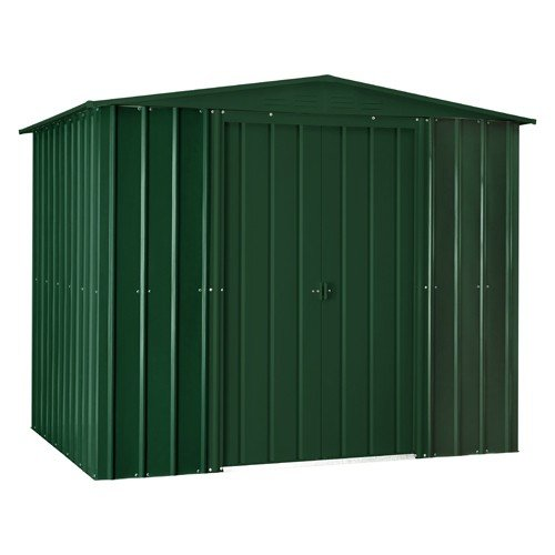 Lotus 8ft x 3ft Solid Metal Shed in Heritage Green