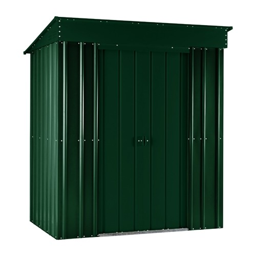 Lotus 8ft x 4ft Pent Solid Metal Shed in Heritage Green