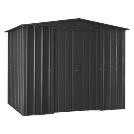 Lotus 8ft x 5ft Solid Metal Shed in Anthracite Grey
