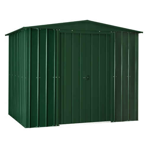 Lotus 8ft x 6ft Solid Metal Shed in Heritage Green