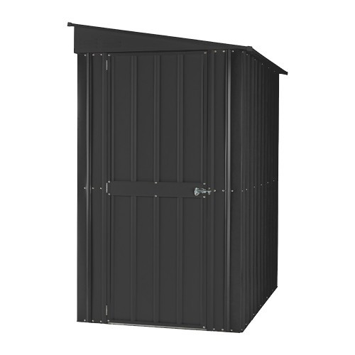 Lotus 4ft x 6ft Lean-To Solid Metal Shed in Anthracite Grey