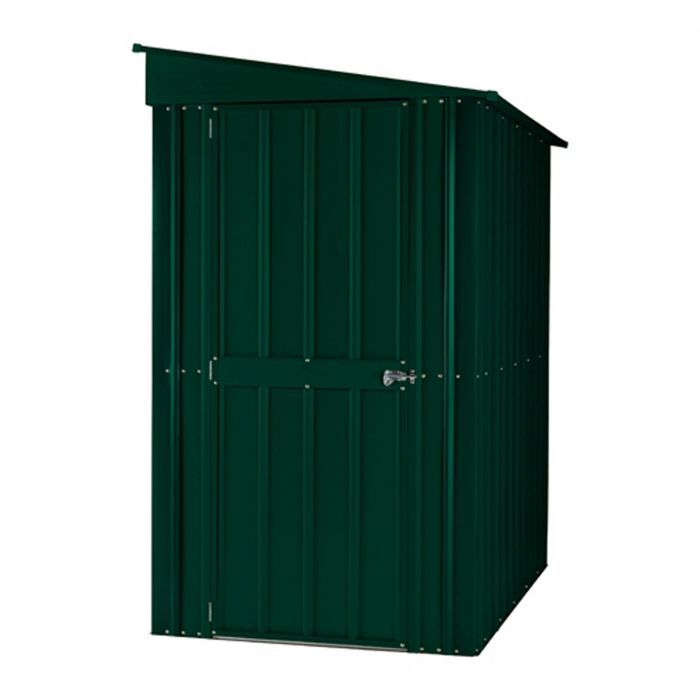 Lotus 4ft x 6ft Lean-To Solid Metal Shed in Heritage Green