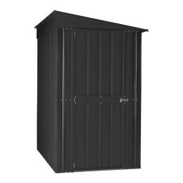 Lotus 4ft x 8ft Lean-To Solid Metal Shed in Anthracite Grey