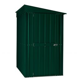 Lotus 4ft x 8ft Lean-To Solid Metal Shed in Heritage Green