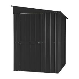 Lotus 5ft x 8ft Lean-To Solid Metal Shed in Anthracite Grey