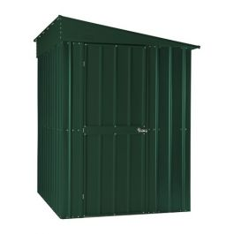 Lotus 5ft x 8ft Lean-To Solid Metal Shed in Heritage Green