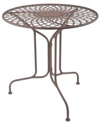Outdoor Round Table, Brown -70cm