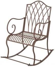 Outdoor Rocking Chair, Brown - 98cm