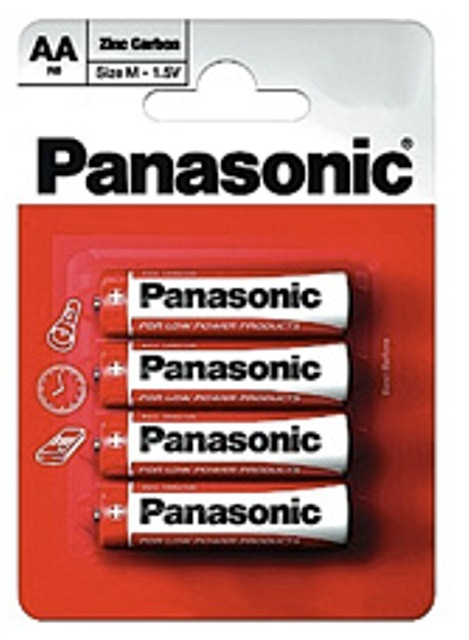Panasonic AA Batteries R6R - 2x Packs of 4