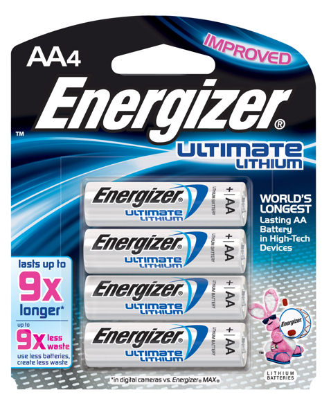 Energizer Ultimate Lithium AA Batteries - 4 Pack (3 plus 1 Free)